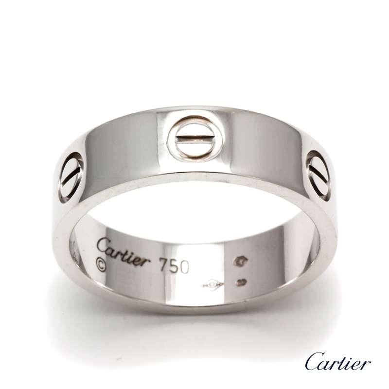 18WG Cartier Love Ring size 63 - Rich Diamonds Of Bond Street