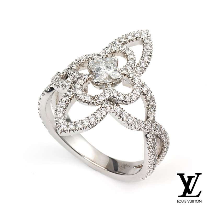 06a0150d25d 18WG Louis Vuitton Diamond  Les Ardentes  Pointed Flower Ring - Rich  Diamonds Of Bond Street