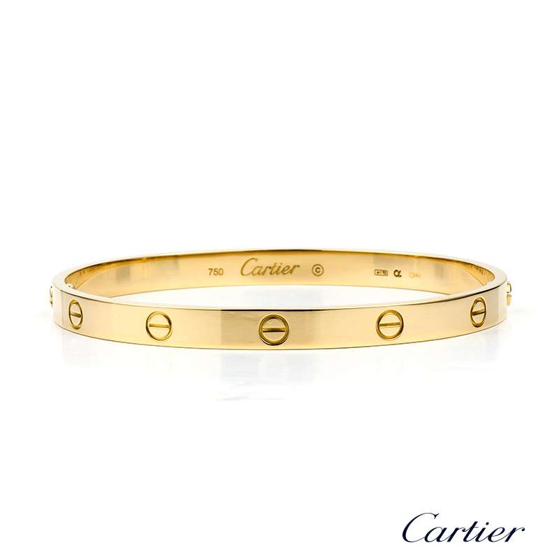 18yg Cartier Love Bangle Size 21