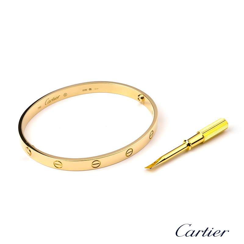 bangle item york designer new jewelry love buy white gold bangles estate pieces cartier