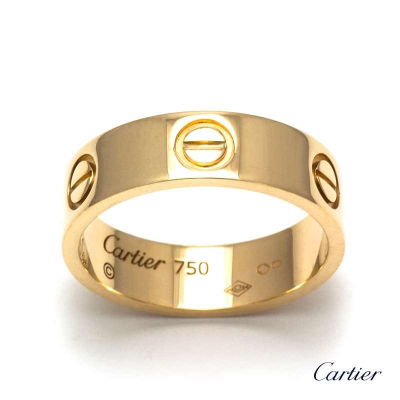 18YG Cartier Love Ring Size 52 - Rich Diamonds Of Bond Street