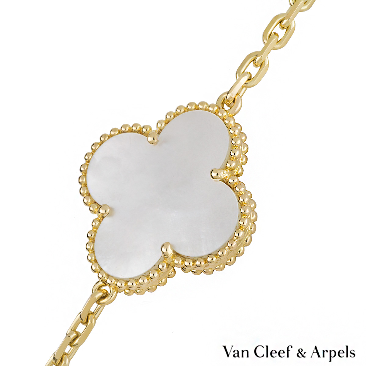 Van cleef arpels 18k yellow gold magic alhambra necklace van cleef arpels 18k yellow gold magic alhambra necklace vcard79400 aloadofball Choice Image