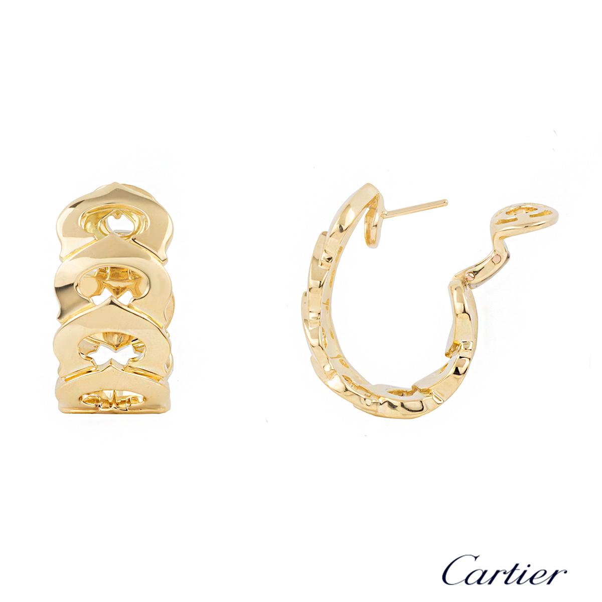 Cartier 18k Yellow Gold C de Cartier Earrings