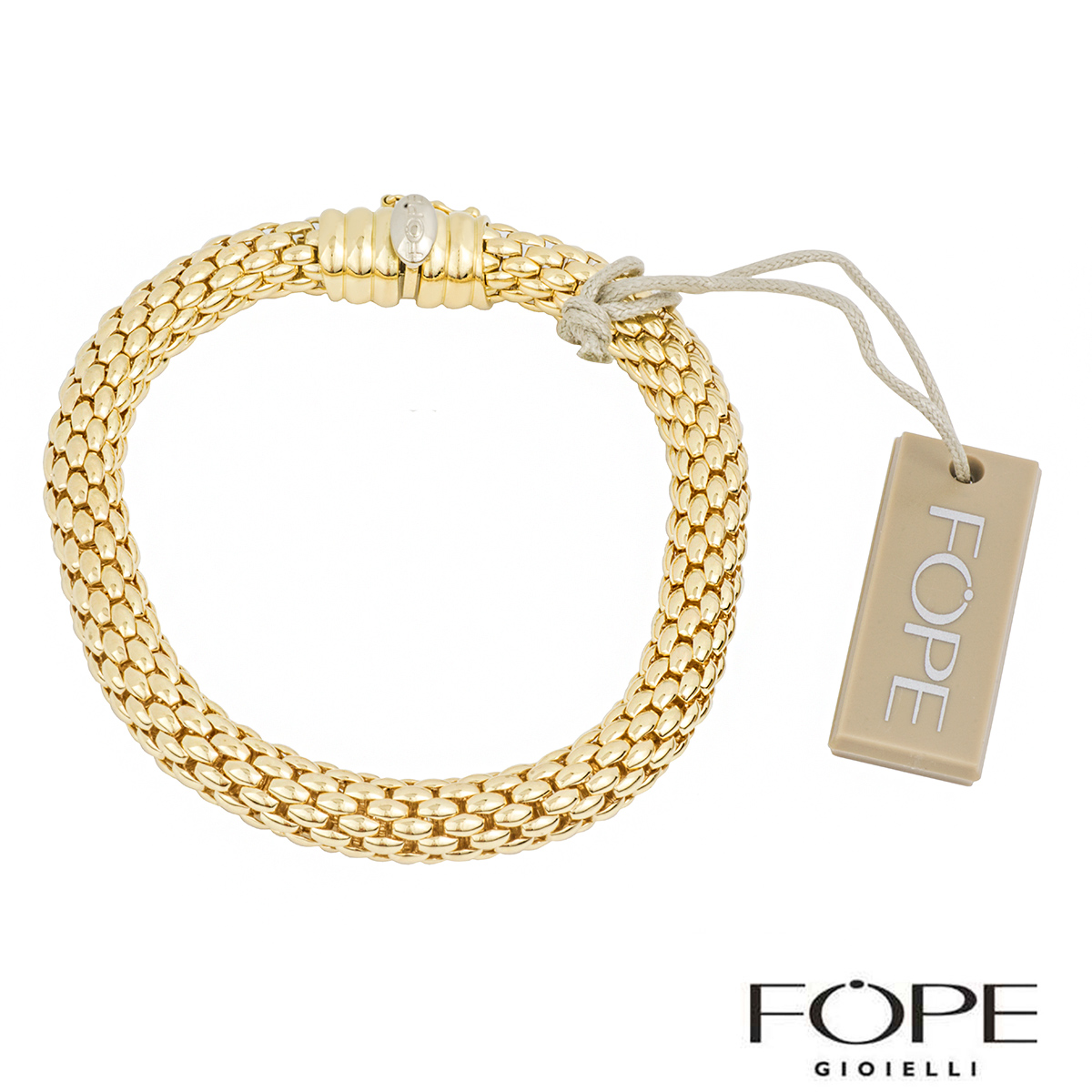 Fope 18k Yellow Gold Kaleida Bracelet Rich Diamonds Of