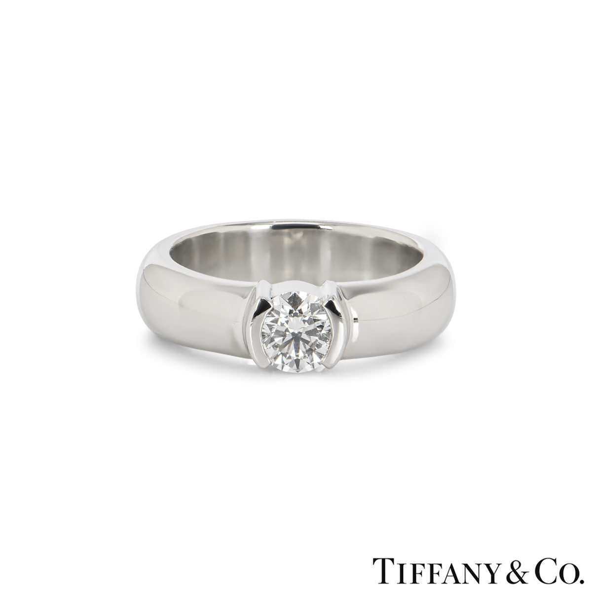 tiffany co diamond etoile platinum ring f vs1. Black Bedroom Furniture Sets. Home Design Ideas