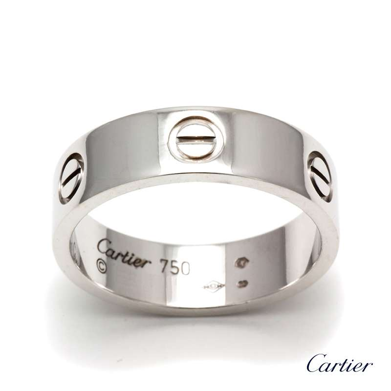 18wg Cartier Love Ring Size 61 Rich Diamonds Of Bond Street