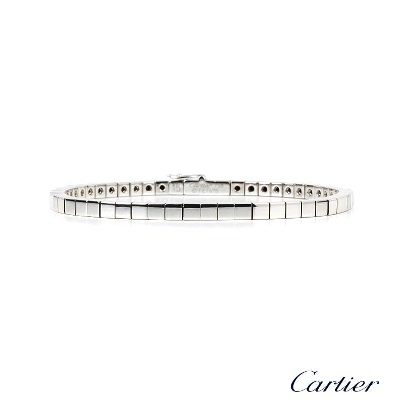 Cartier 18ct White Gold Lanieres Bracelet Rich Diamonds Bond