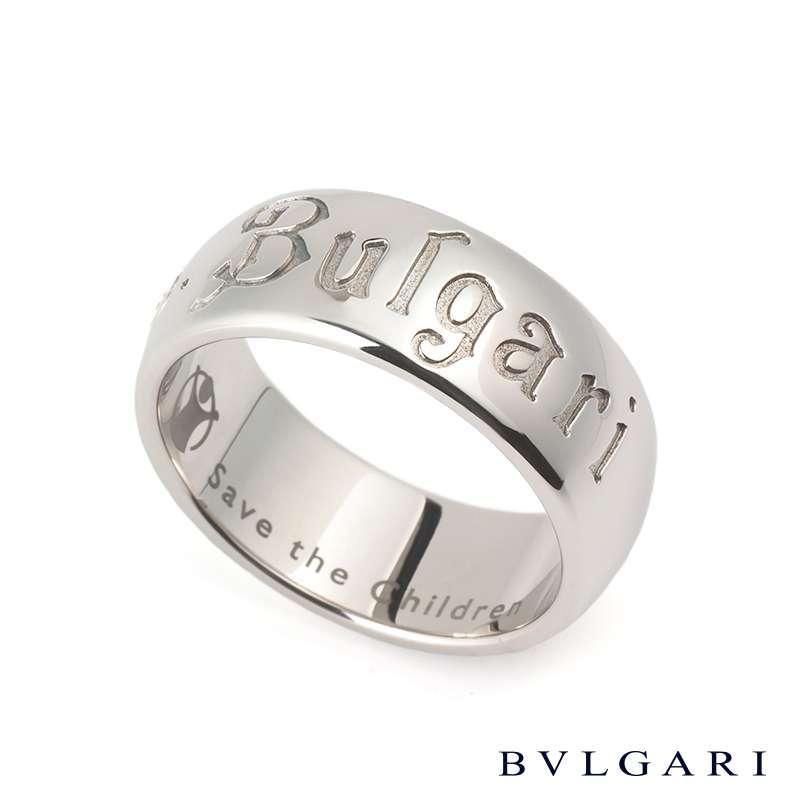 Bvlgari Silver Diamond Ring