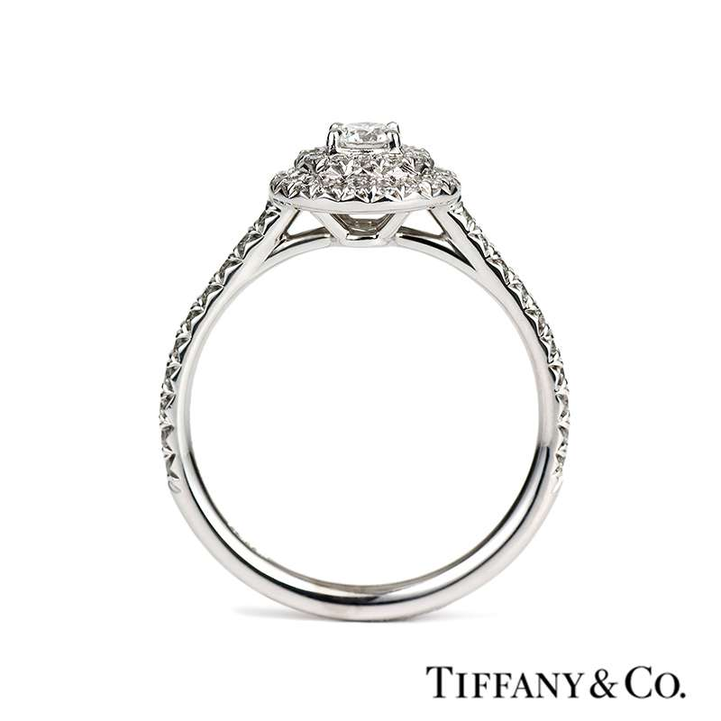 Tiffany Amp Co Platinum Soleste Cluster Ring 0 47ct Total