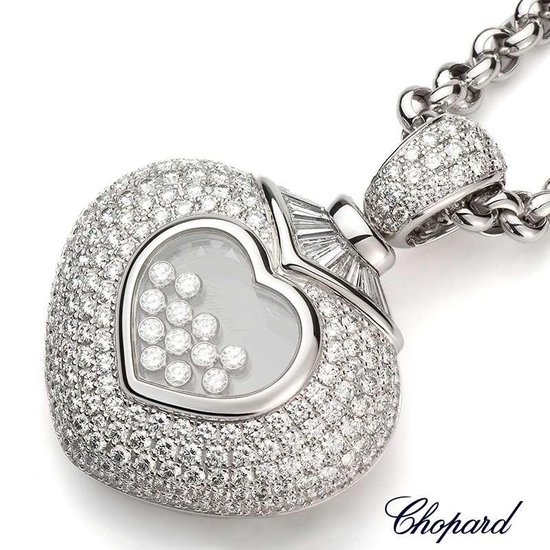 Chopard 18ct white gold happy diamonds pendant 792208 1001 rich chopard 18ct white gold happy diamonds pendant 792208 1001 aloadofball
