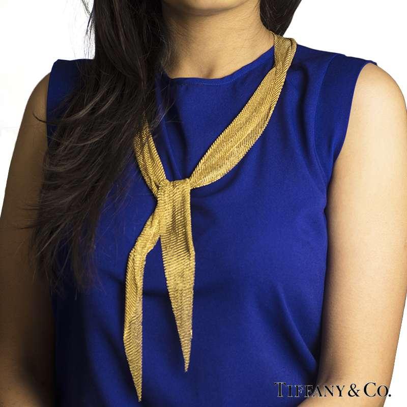 Tiffany Amp Co 18k Yellow Gold Elsa Peretti Mesh Scarf