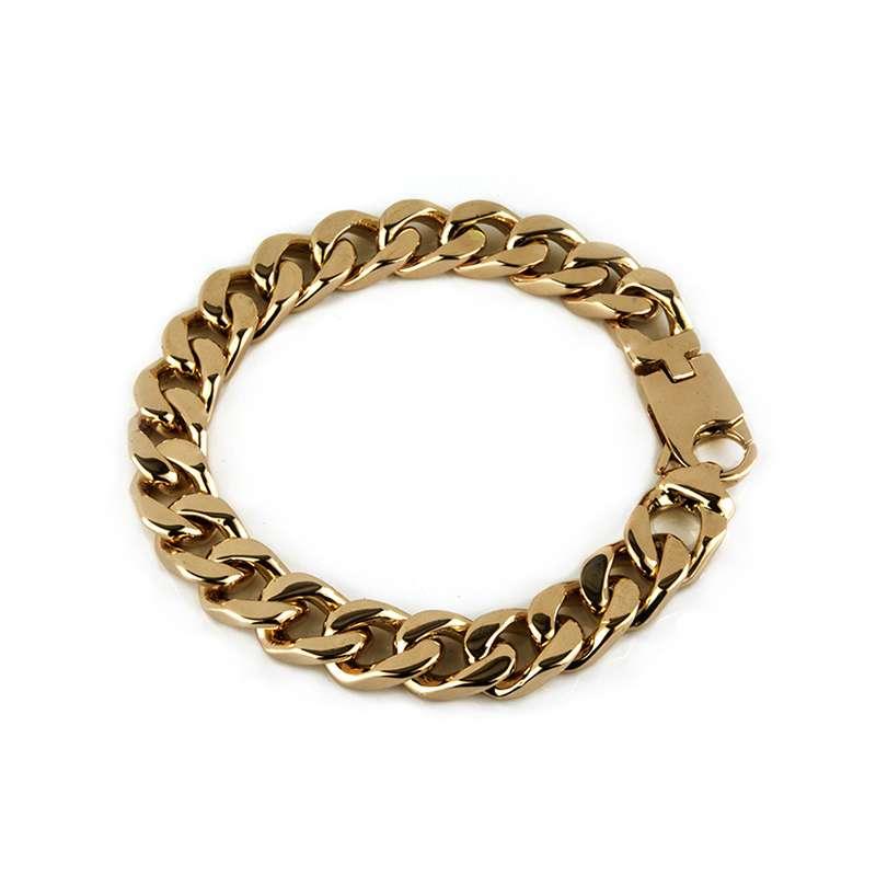 91cab8801 18k Rose Gold Gents Curb Link Bracelet - Rich Diamonds Of Bond Street