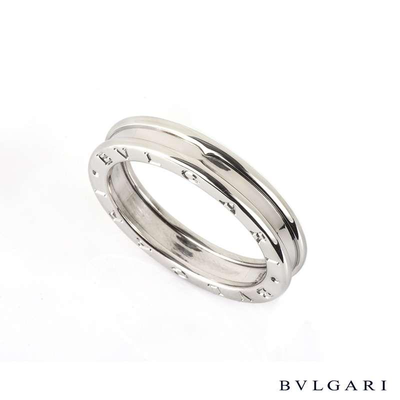 Bvlgari 18k white gold B.zero1 Ring Size 64/V AN852423