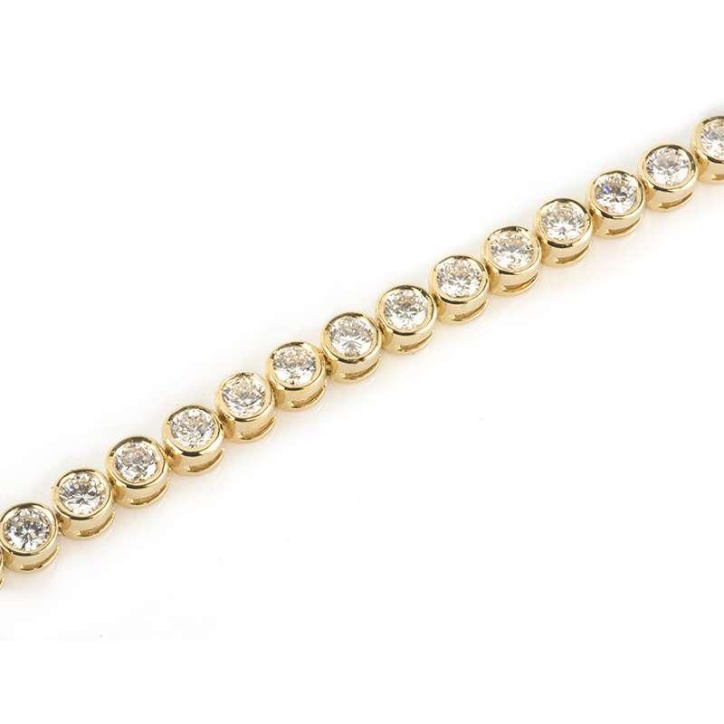 18k Yellow Gold Diamond Set Bracelet 4.49ct