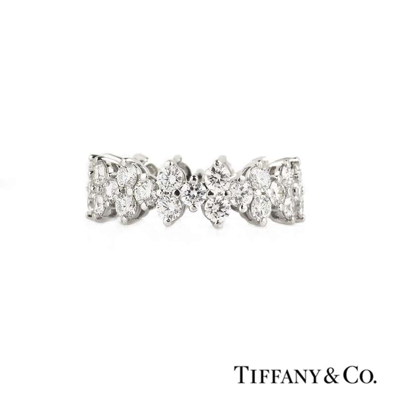 Tiffany And Co Aria Full Diamond Eternity Ring In