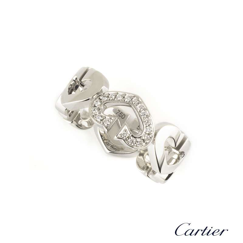 18f922c1c22c4 Cartier 18k White Gold C Heart of Cartier Ring