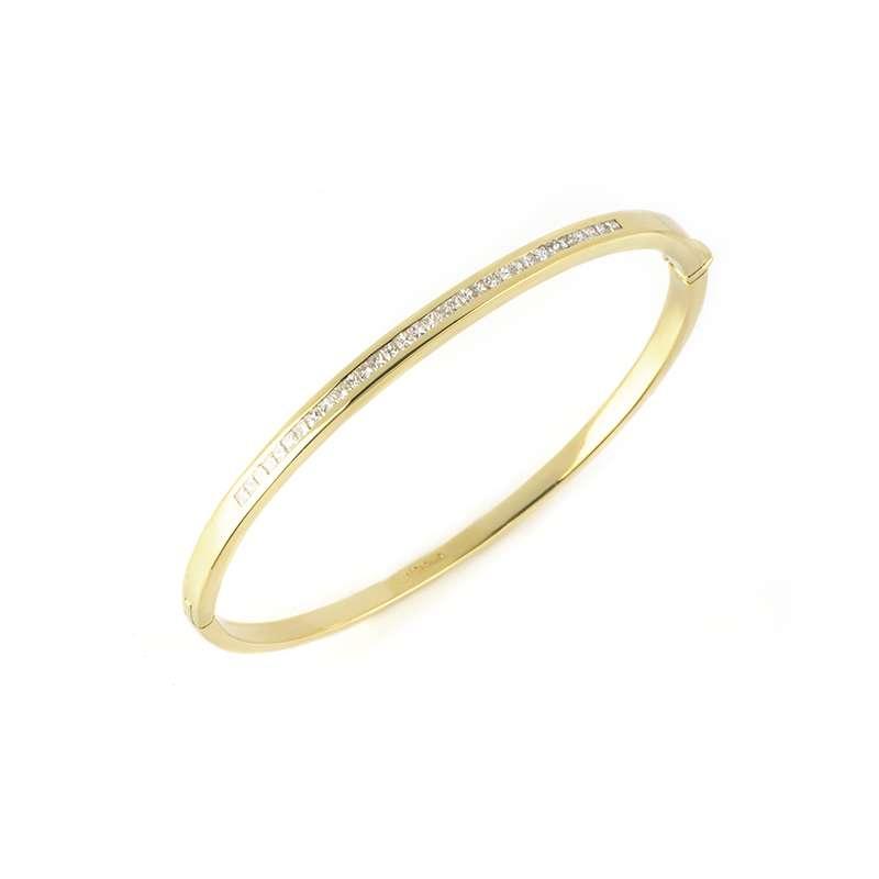 18k Yellow Gold Diamond Set Bangle