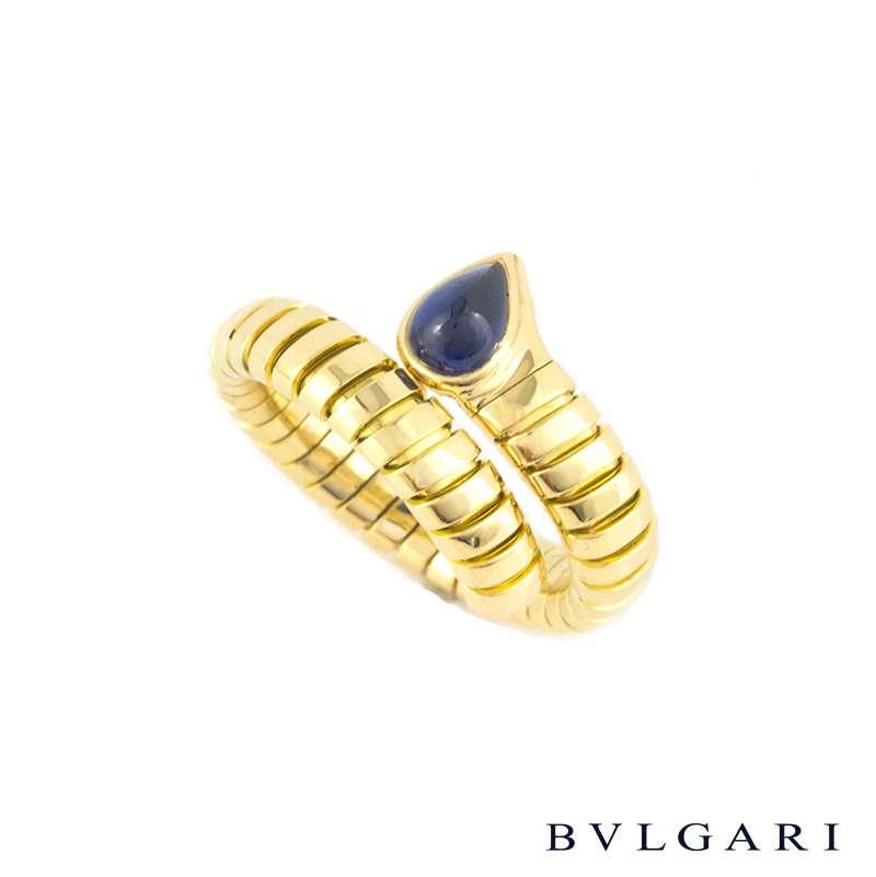 Bvlgari 18k Yellow Gold Tubogas Ring