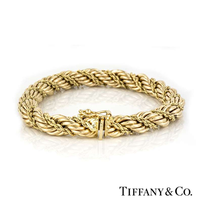 Tiffany & Co 14k Yellow Gold Rope Bracelet