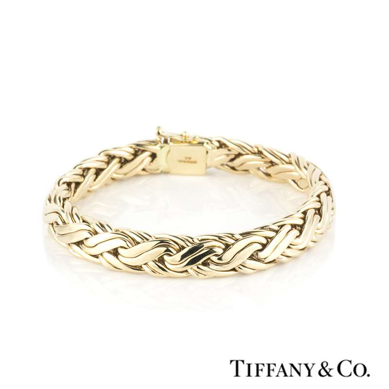 Tiffany Amp Co 14k Yellow Gold Flat Rope Bracelet Rich