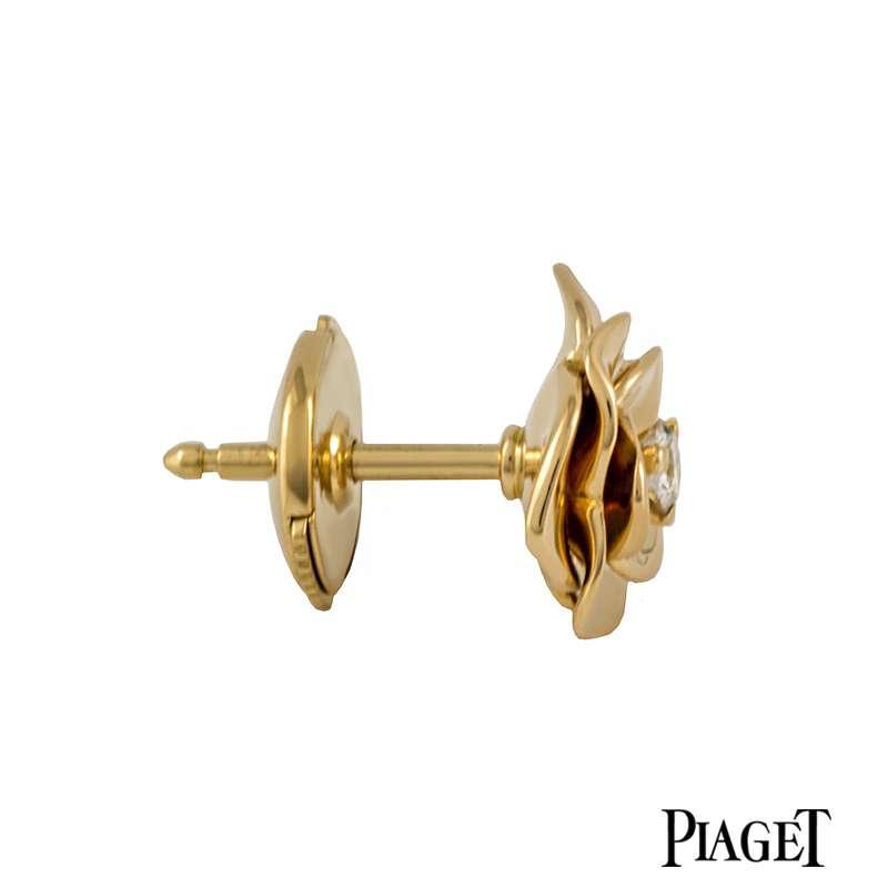 Piaget 18k Rose Gold Diamond Set Earrings G38u0043