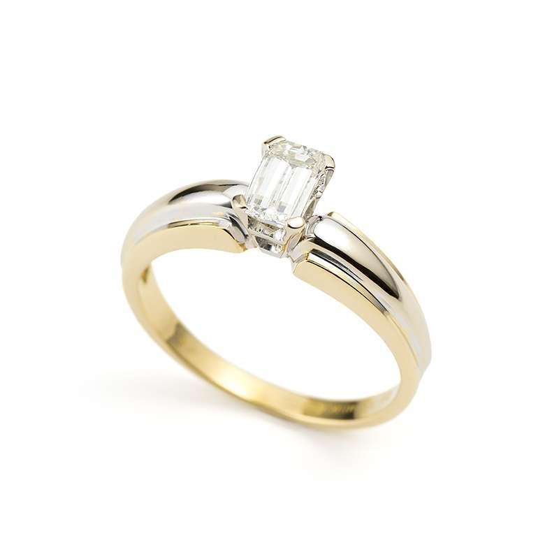 18ct Yellow Gold Royal Crest Cut Diamond Ring 0 66ct I Vvs1 Rich