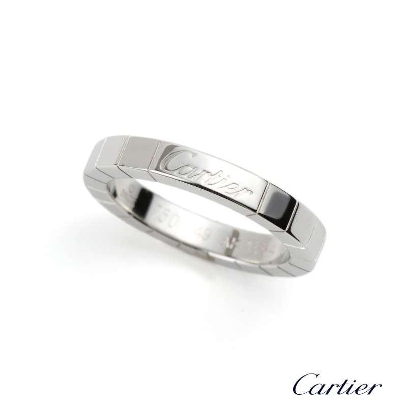 5d83e06fc86f3 Cartier 18k White Gold Lanieres Wedding Band Size 49 B4045000
