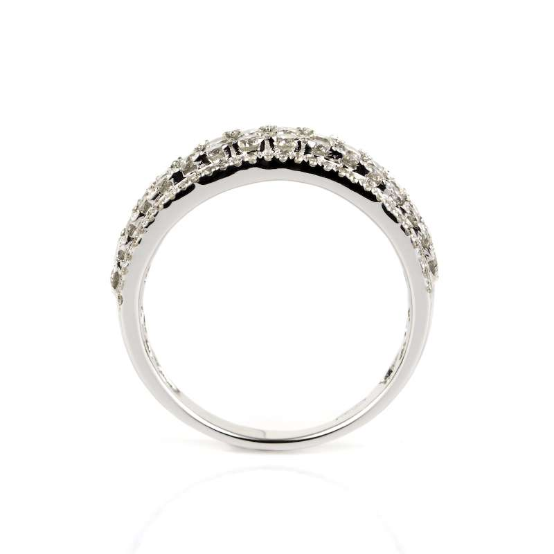 18k White Gold Diamond Half Eternity Ring 1.17ct Total