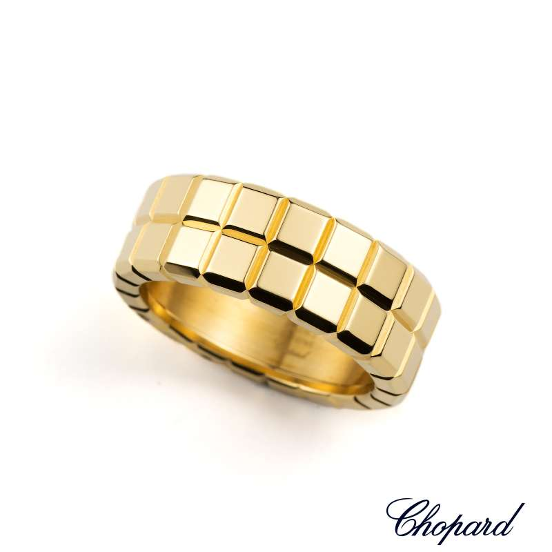 Chopard 18k Yellow Gold Ice Cube Ring 823795 0113
