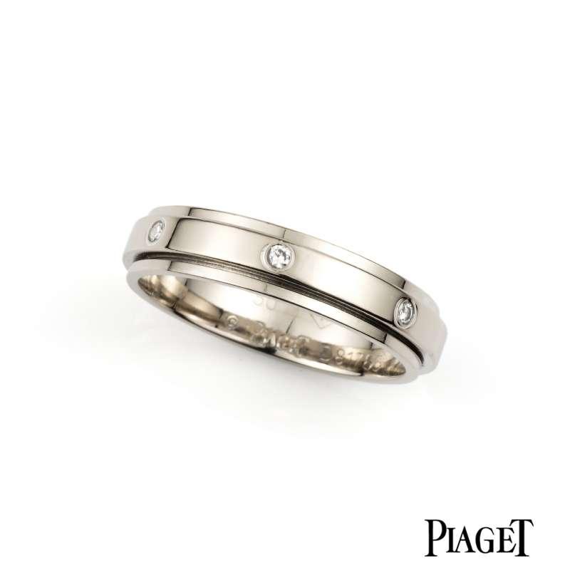 Pia 18k White Gold Diamond Possession Ring Size Q Rich
