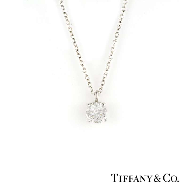 c08c739a5d746 Tiffany & Co. Solitaire Diamond Pendant 0.48ct G VS1 in Platinum