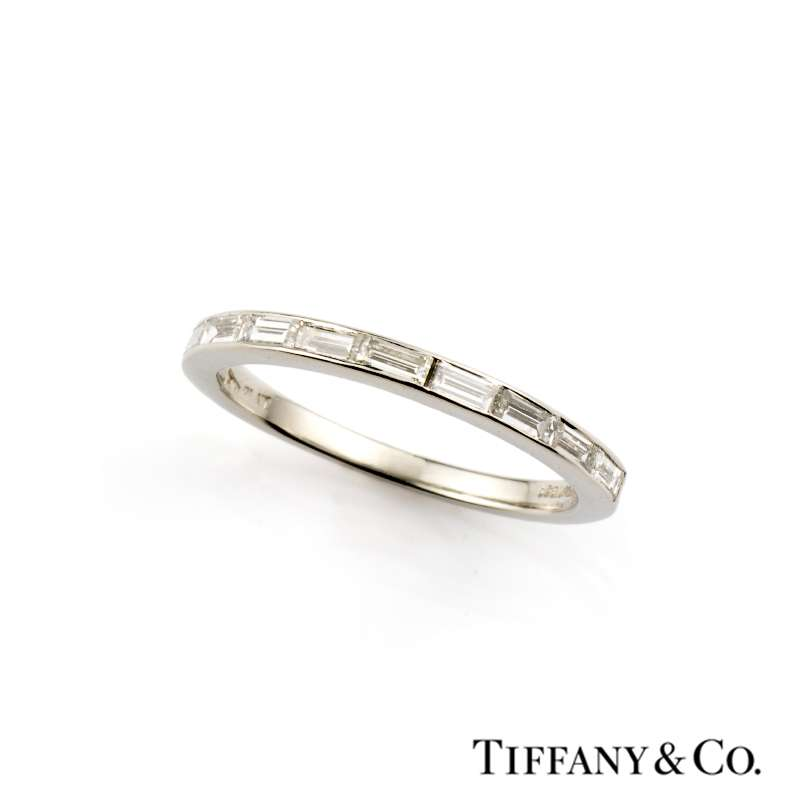 Tiffany Amp Co Baguette Cut Diamond Half Eternity Ring In