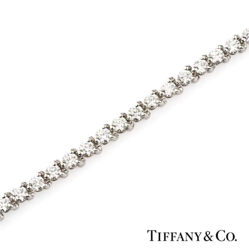 30338c9b3 Platinum Tiffany & Co Round Brilliant and Marquise Cut Victoria Diamond  Line Bracelet 3.26cts ...