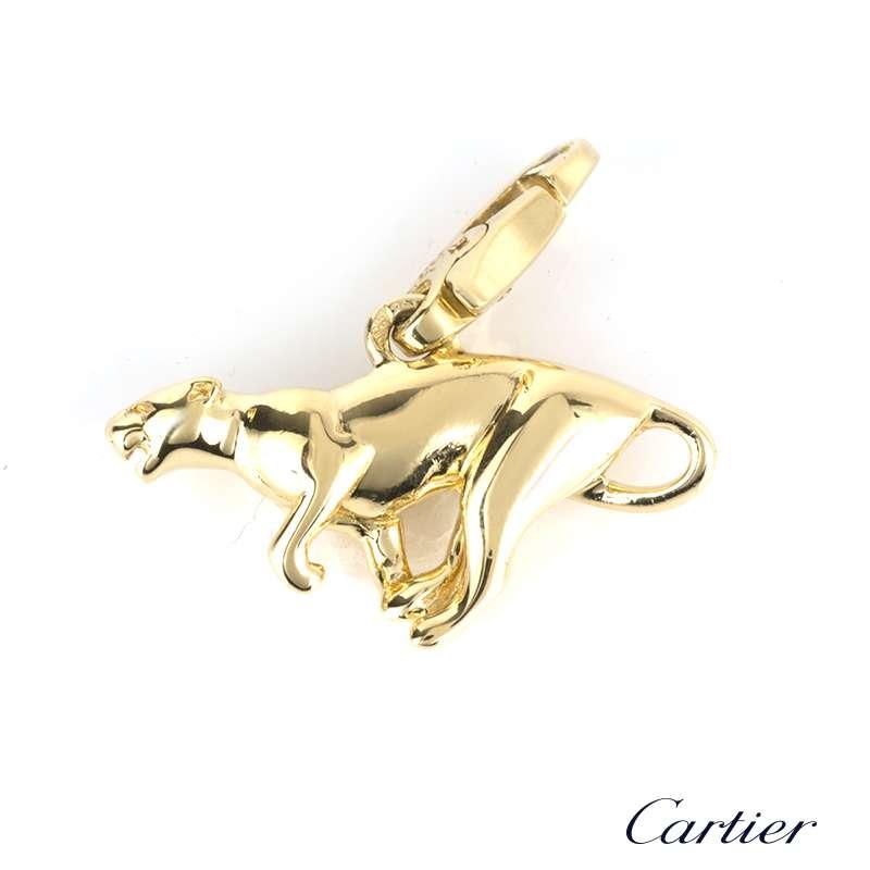 Cartier 18k Yellow Gold Charm Bracelet Rich Diamonds Of