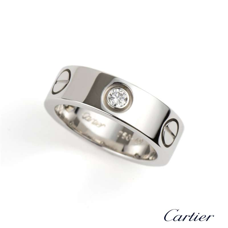 75d44f77d60b cartier love ring white gold diamond price - 90% OFF!