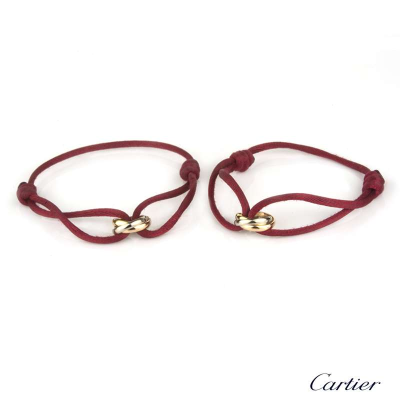 Cartier 18k Three Colour Gold Matching Trinity Bracelets B