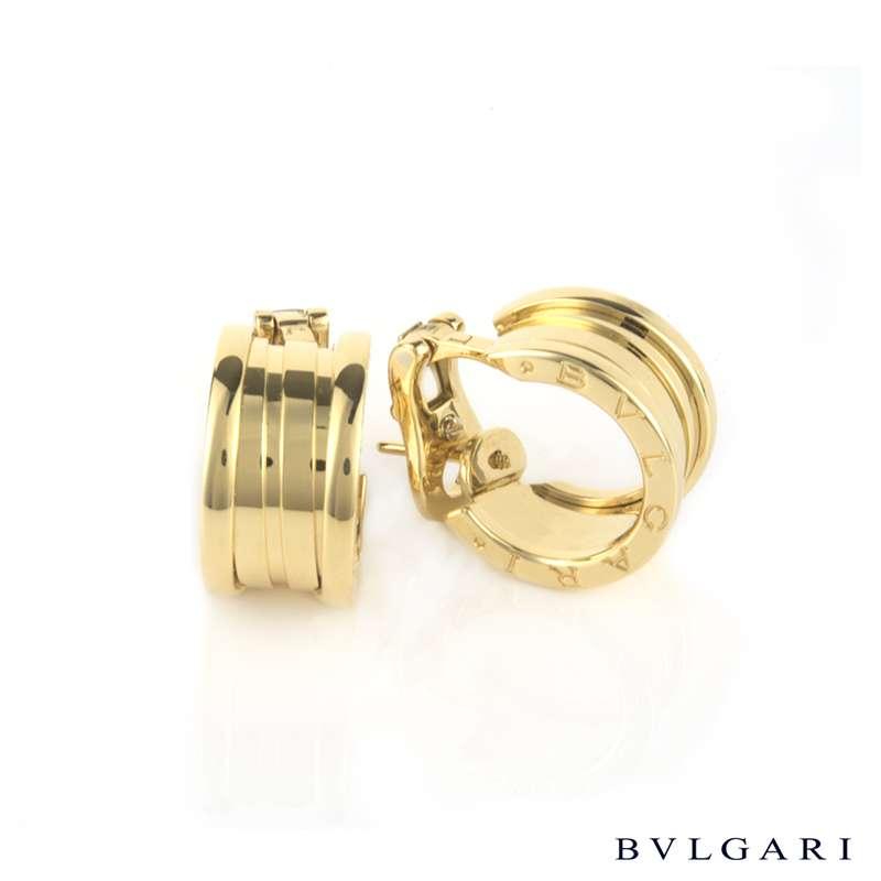 Bvlgari 18k Yellow Gold B Zero1 Hoop Earrings