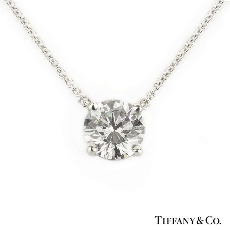 Tiffany co single stone diamond pendant in platinum 141ct dvvs2 single stone diamond pendant in platinum 141ct dvvs2 aloadofball Image collections