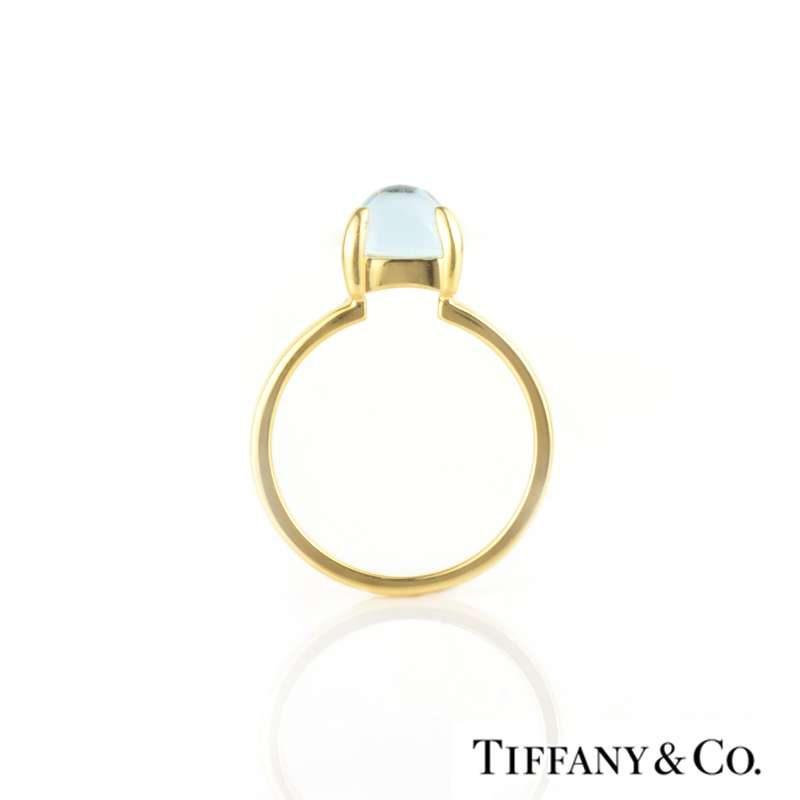 9bd9c7a65 Tiffany & Co. 18k Yellow Gold Paloma Sugar Stack Ring with Blue ...
