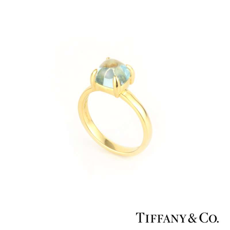 a093ad8fb 18k Yellow Gold Paloma Sugar Stack Ring with Blue Topaz 1.00ct - Rich  Diamonds Of Bond Street