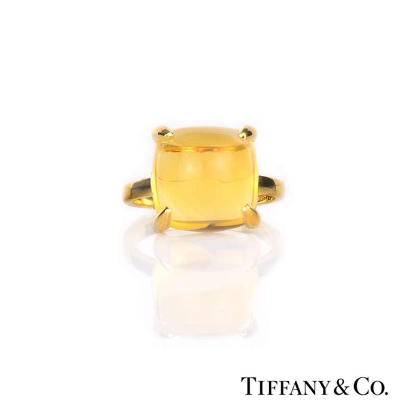 88da3770c Tiffany & Co. 18k Yellow Gold Citrine Paloma Picasso Sugar Stack Ring ...