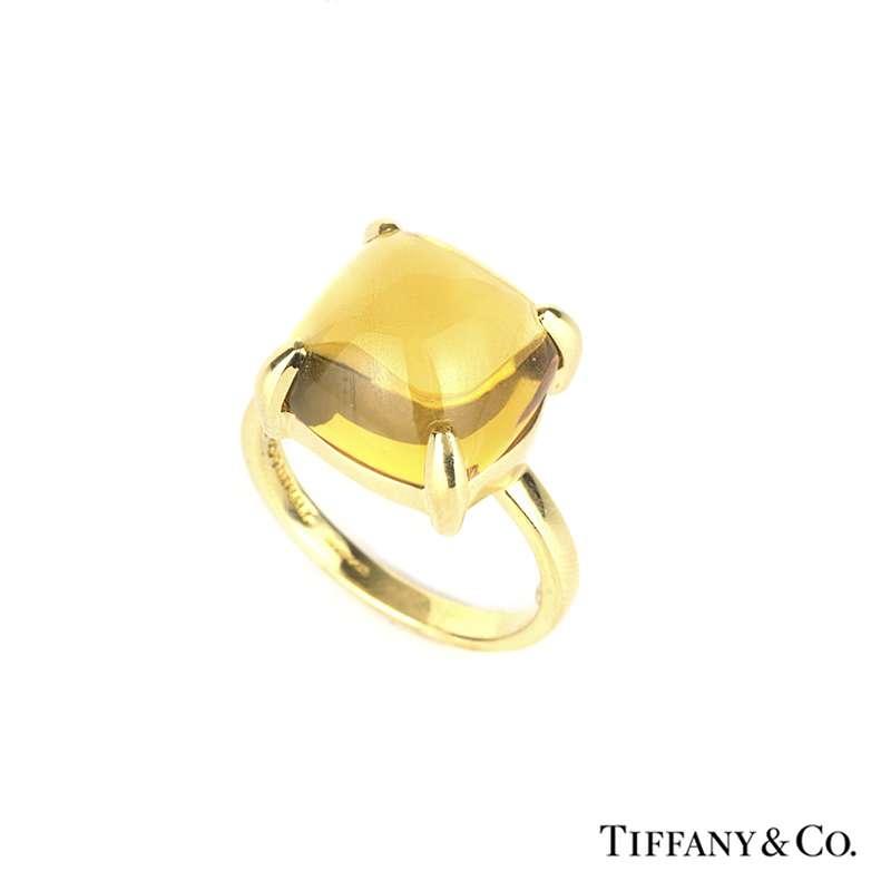 efa104b88 Tiffany & Co. 18k Yellow Gold Citrine Paloma Picasso Sugar Stack Ring -  Rich Diamonds Of Bond Street