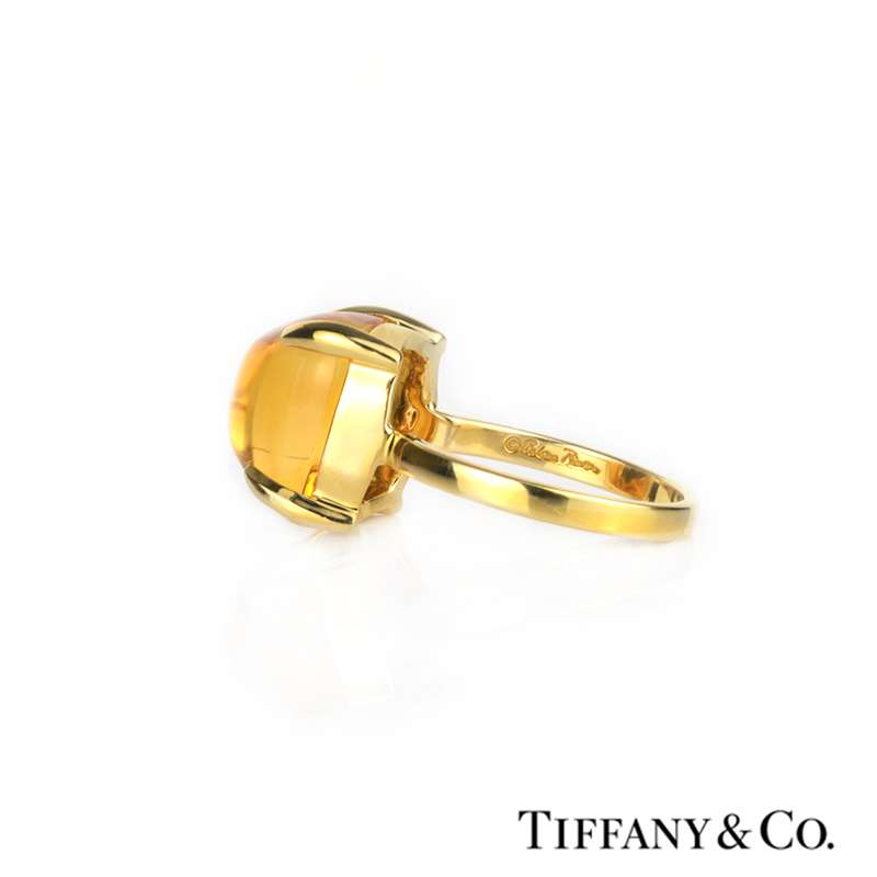 a7f254954 ... Tiffany & Co. 18k Yellow Gold Citrine Paloma Picasso Sugar Stack Ring  ...