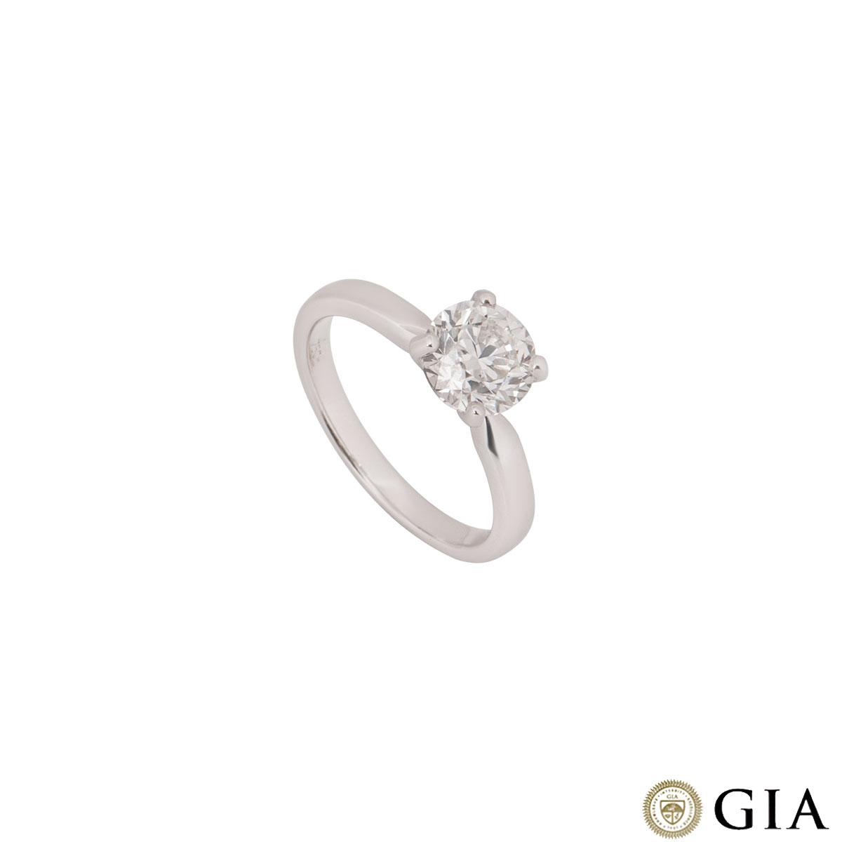 White Gold Round Brilliant Diamond 1 52ct G Vvs2 Ring