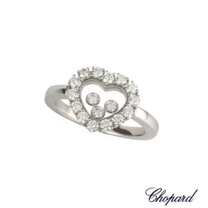 c46995120 Chopard 18k White Gold Happy Diamonds Heart Ring